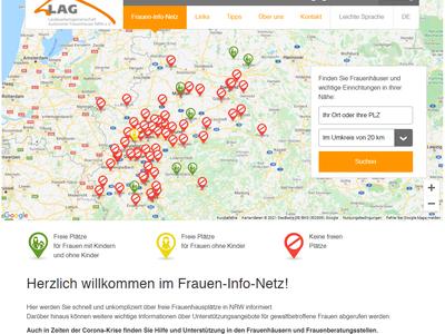 Frauen-Info-Netz gegen Gewalt / Frauenhäuser finden